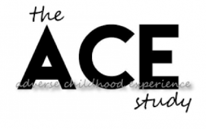 ACE study logo, black and white text