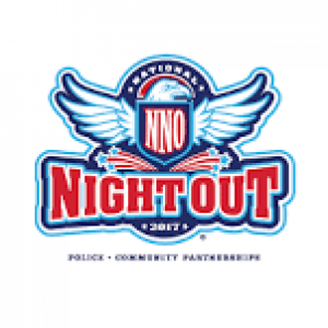 National Night Out Logo, wings, type, big lettering
