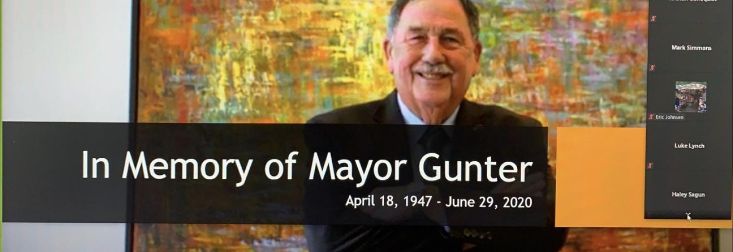 In Memory of Mayor Gunter