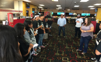 4th YLA group at bowling alley after completing program